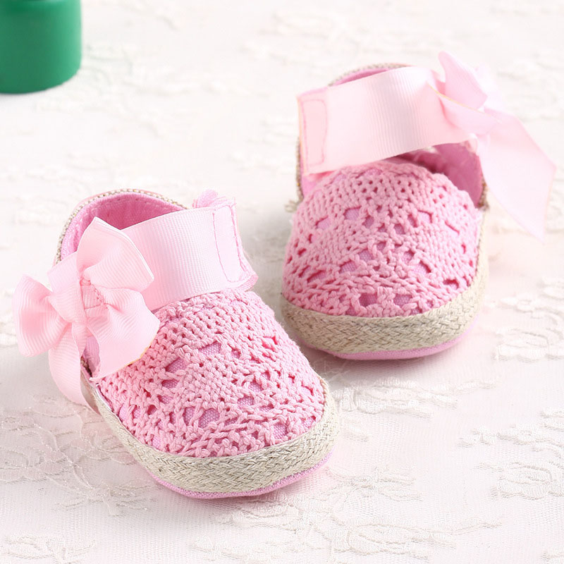 New Sweet Lovely Baby Girl Princess Big Bow Infant Toddler Mary Jane Ballet Dress First Walkers Shoes Crib Babe Footwear