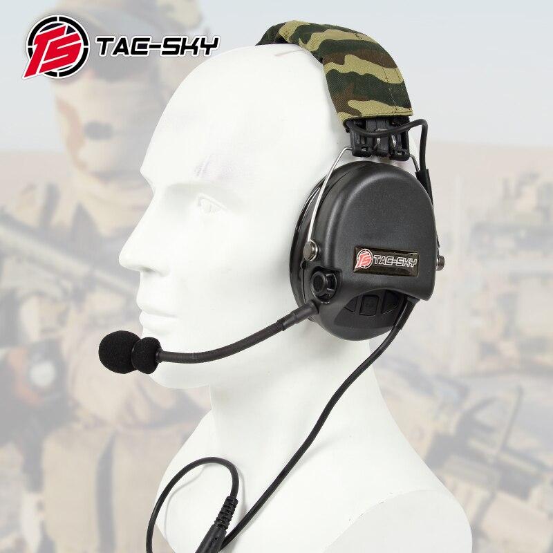 TAC-SKY TCI LIBERATOR II Silicone earmuff version Noise reduction pickup headset-BK