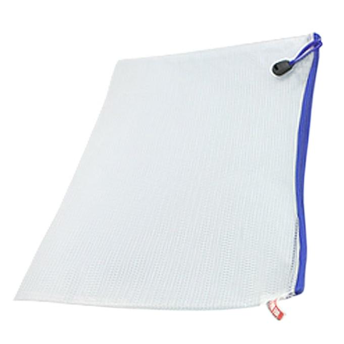 12 Pcs White Plastic Zipper Pen File Document Bags Folders Pockets