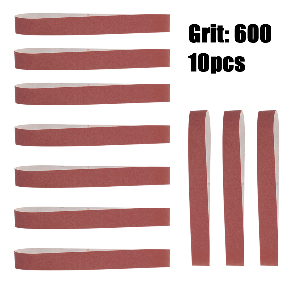 10pcs 740*40mm Abrasive Sanding Belts 60-600 Grit Grinding and Polishing Replacement for Angle Grinder
