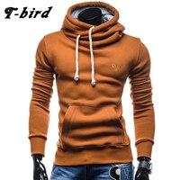 T Bird Hoodies Men Moleton Hip Hop Solid Color Turtleneck Pullover Men S Hoodie Sweatshirt Slim