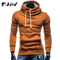 T Bird Hoodies Men Moleton Hip Hop Solid Color Turtleneck Pullover Men S Hoodie Sweatshirt Slim