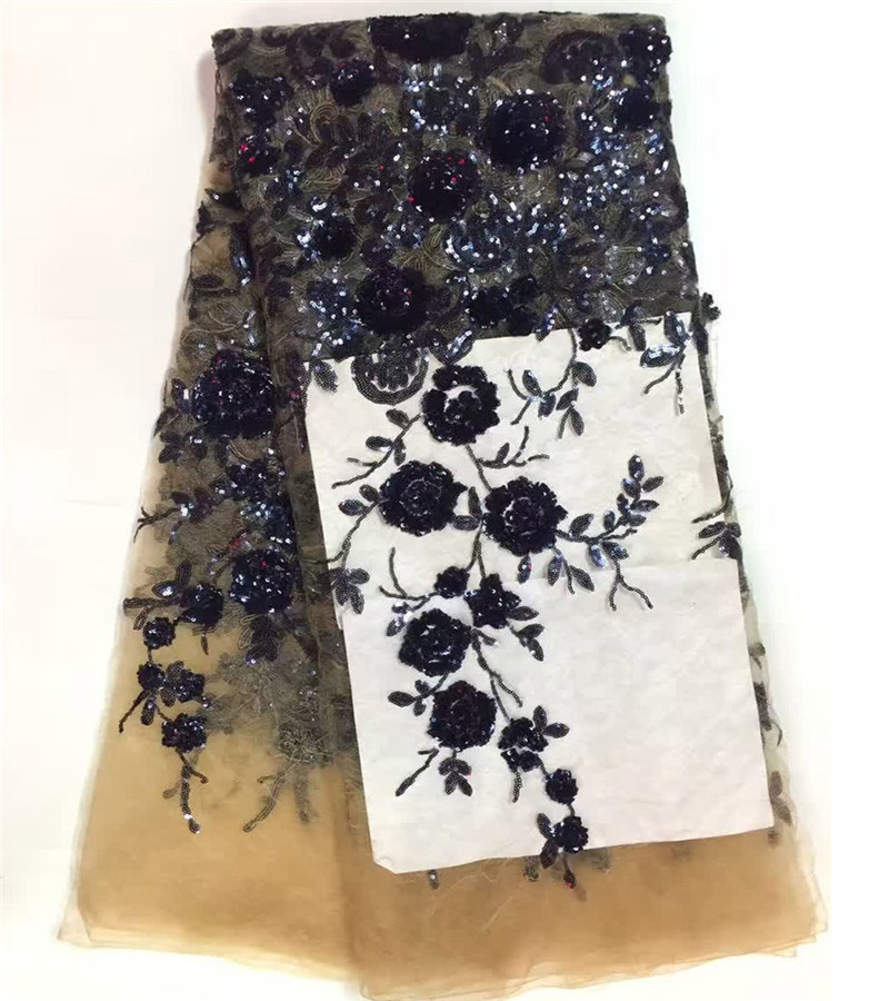 Sequins Lace Fabric Nigerian