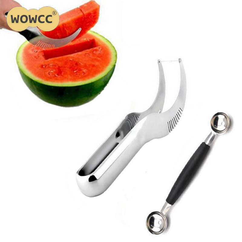 US $1.51 22% OFF|WOWCC Stainless Steel Watermelon Slicer Cutter Knife Fruit  Vegetable Tools Kitchen Gadgets Kitchen cooking Fruit Cutting Tools-in ...