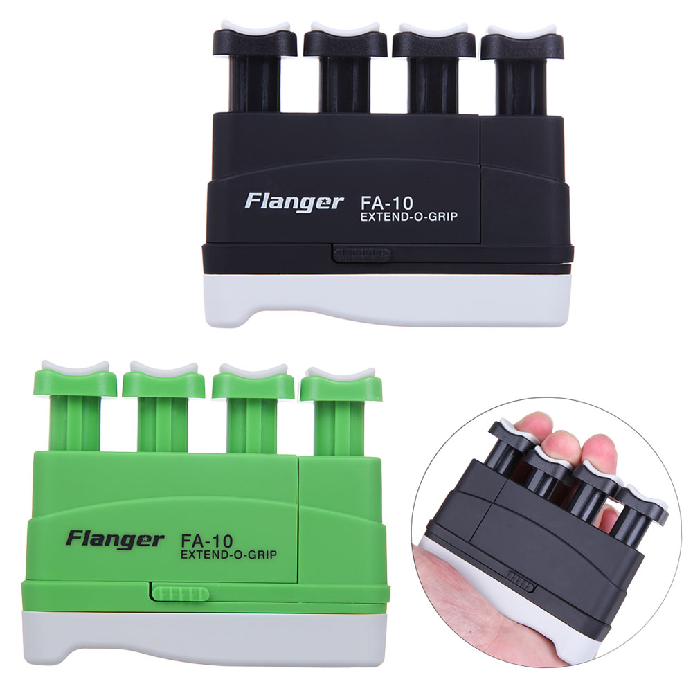 New!! Portable Strength Adjustable Guitar Bass Piano Hand and Finger Exerciser Extend-O-Grip Trainer for Guitar Black/Green цена и фото