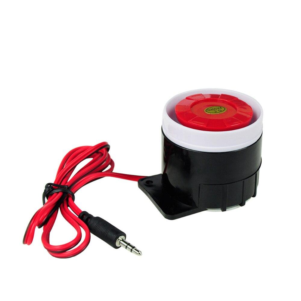 DANMINI Mini Plastic Wired Siren Horn 120 dB Plastic loudly siren scare away the burglar For Wireless Home Alarm Security System