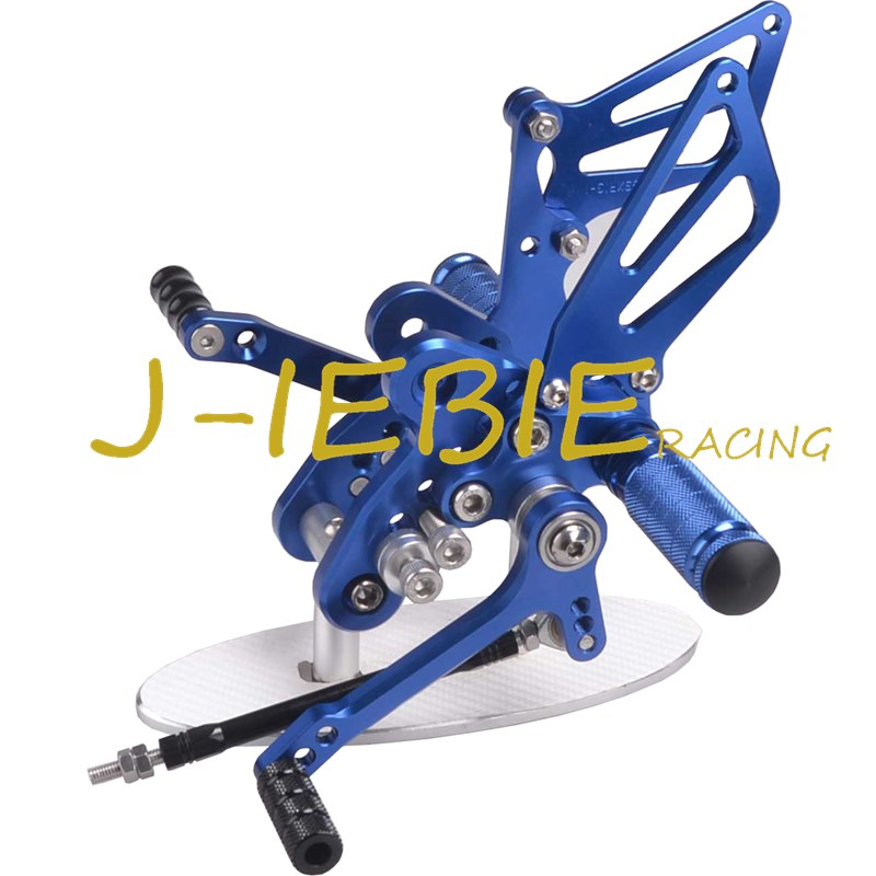 CNC Racing Rearset Adjustable Rear Sets Foot pegs Fit For Suzuki GSXR1300 Hayabusa 1999-2016 BLUE titanium cnc aluminum racing adjustable rearset foot pegs rear sets for yamaha mt 07 fz 07 mt07 fz07 2013 2014 2015 2016
