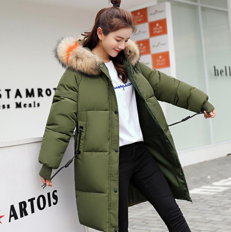 2018 New Winter Super fur collar Maternity Long Coat Warm clothing Maternity down Jacket Pregnant coat Women outerwear parkas