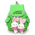 Cute Cartoon Fashion Backpack Puppets Rabbit School Bag For Teenage Girls Light Cotton Children Travel Bags Beauty Backage