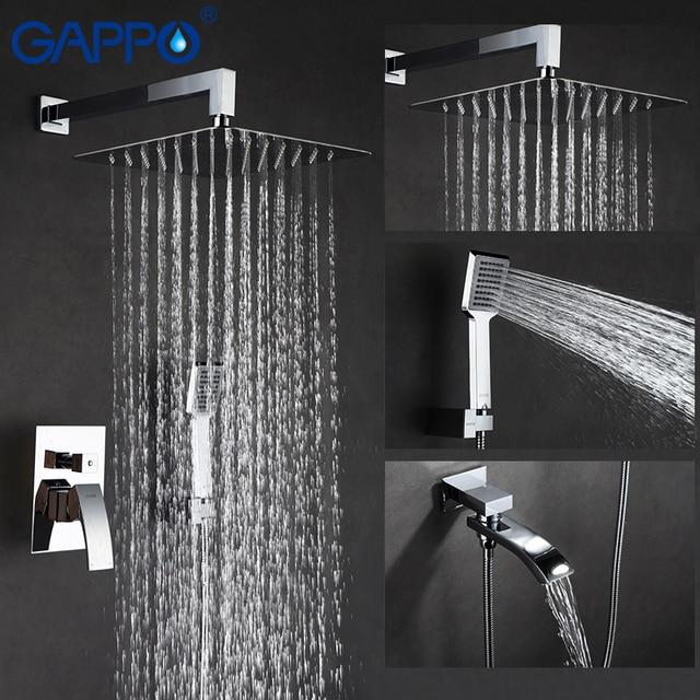 Gappo torneira do chuveiro do banheiro torneiras misturador banho de massagem cabeças de chuveiro cachoeira sistema misturador do chuveiro torneira conjunto