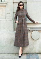 Для женщин пальто плед Для женщин длинные Сельма шерстяное пальто зимнее пальто шерстяное пальто 2018 пальто