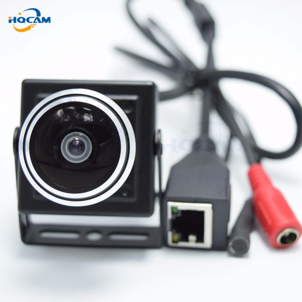 HQCAM 180 Degree 1080P mini IP Camera audio monitor ip camera mini P2P Plug Play Wide Angle camera for 1.78mm Fisheye Lens