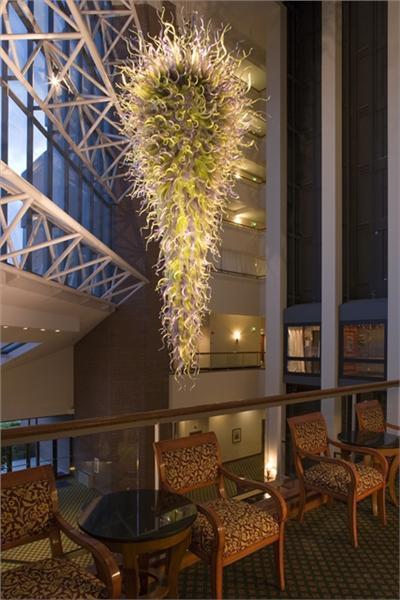 Modern Style Elegant Long Murano Restaurant Light Fixtures Free Shipping