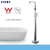 WELS And CUPC Top Quality Brass Chrome Polished Floor Standing Bathroom Bath Waterfall Faucet Luxury Shower