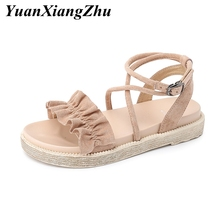 Fashion Cross tied Women Sandals 2019 Summer Female Shoes Woman Platform Sandals Gladiator Ladies Flat Sandals Women Sandalias недорого