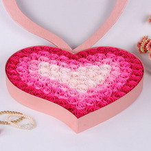 100 Pieces/Set Home Decra Bathroom Scented Guest Soap Flower Shaped Rose Petals For Valentine's Day Decoration Flowers