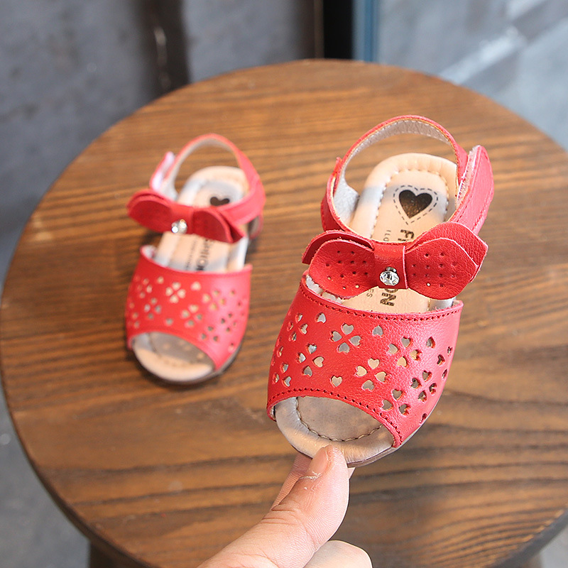 59c2be7d127f9 2018 nouveau 0-3Y blanc bébé fille sandales pour enfants filles creux été  infantile chaussures