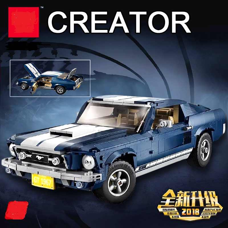 2019 NEW Creator Expert Ford Mustang Compatible Legoing 10265 Set Building Blocks Bricks Assembled DIY Toys Birthday Gifts