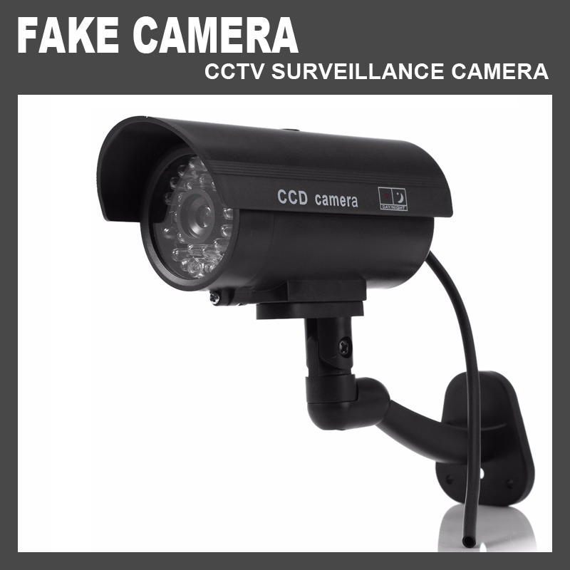 Dummy CCTV Surveillance Dome Camera Waterproof Outdoor Fake Security Video Camera Simulation Night CAM LED Light for Home fake dummy security camera cctv surveillance system with realistic simulated leds outdoor indoor for home cam warning sticker