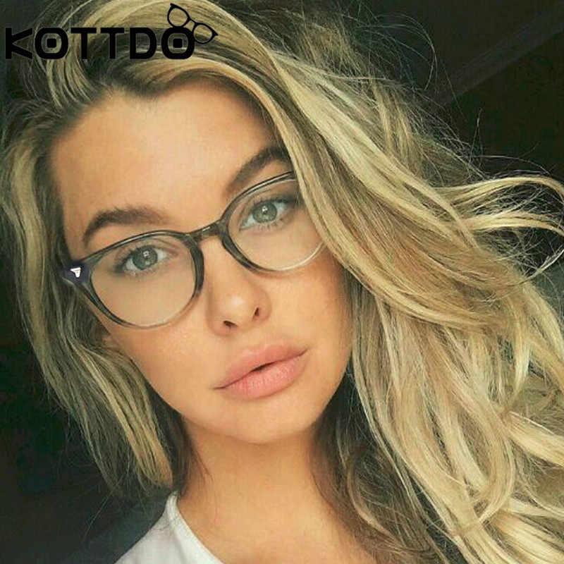 b921191c90cd KOTTDO 2018 Retro Round Eyeglasses Frame Women Brand Designer Fashion  Optical Eye glasses Frames Men Computer