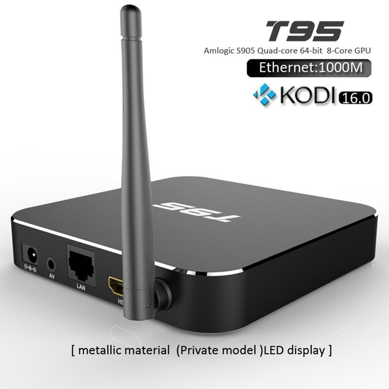 Original T95 Android TV Box Quad Core Amlogic S905 Android TV Box 1/8GB XBMC KODI Android 5.1 HDMI 4K WIFI TV Box High quality m8 fully loaded xbmc amlogic s802 android tv box quad core 2g 8g mali450 4k 2 4g 5g dual wifi pre installed apk add ons