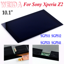 WEIDA LCD Replacement 10.1 For Sony Xperia Tablet Z2 LCD Display Touch Screen Assembly SGP511 SGP512 SGP521 SGP541