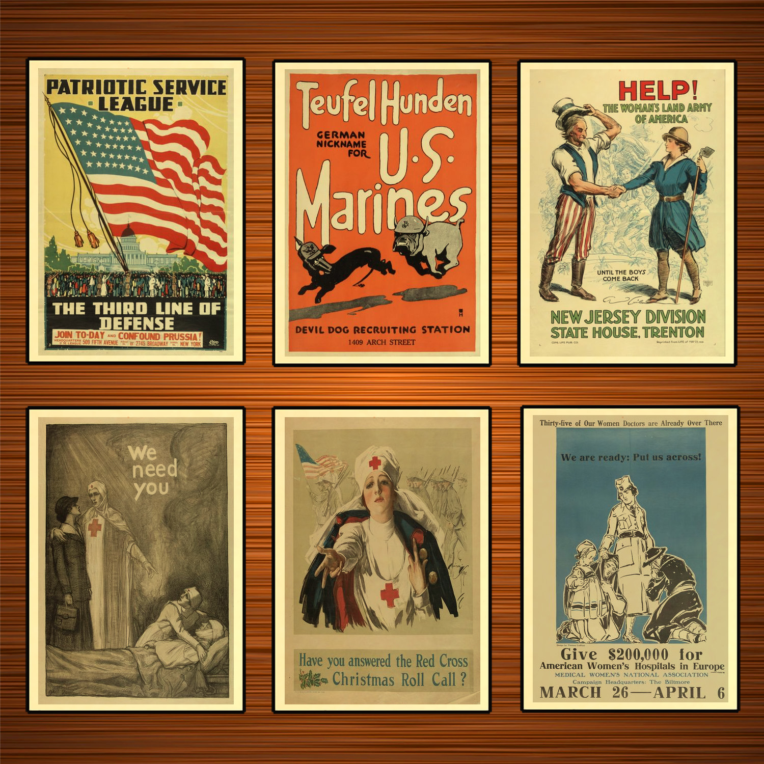 Vintage 1910s USA WW1 Propaganda Poster Nurse We Need You Classic Canvas Paintings Wall Stickers Home Decor Gift image
