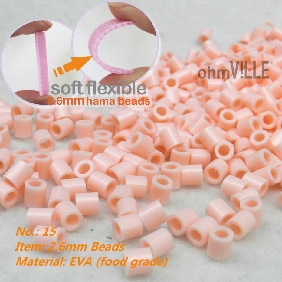 2014 New - ID.:15 Pearl pink 2.6mm Soft Flexible mini Beads 100% Quality Guarantee Perle ...
