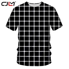 CJLM 2019 talla grande 5XL hombre 3d camiseta Zebra verano camiseta Top Cool Plaid diamante Hip Hop moda(Hong Kong,China)