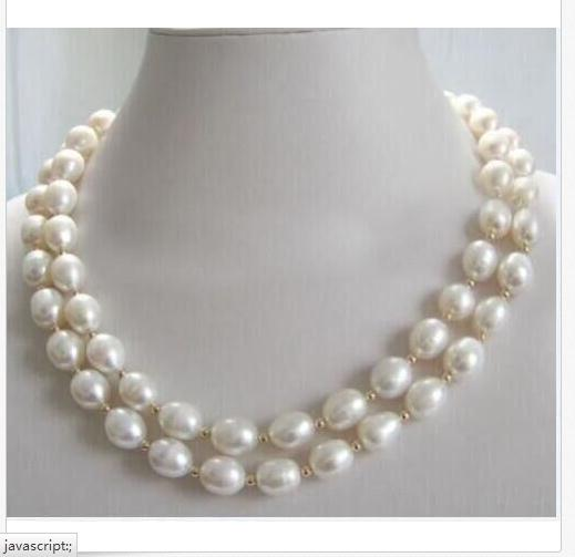2 rows 10-11mm south sea white baroque pearl necklace 18192 rows 10-11mm south sea white baroque pearl necklace 1819