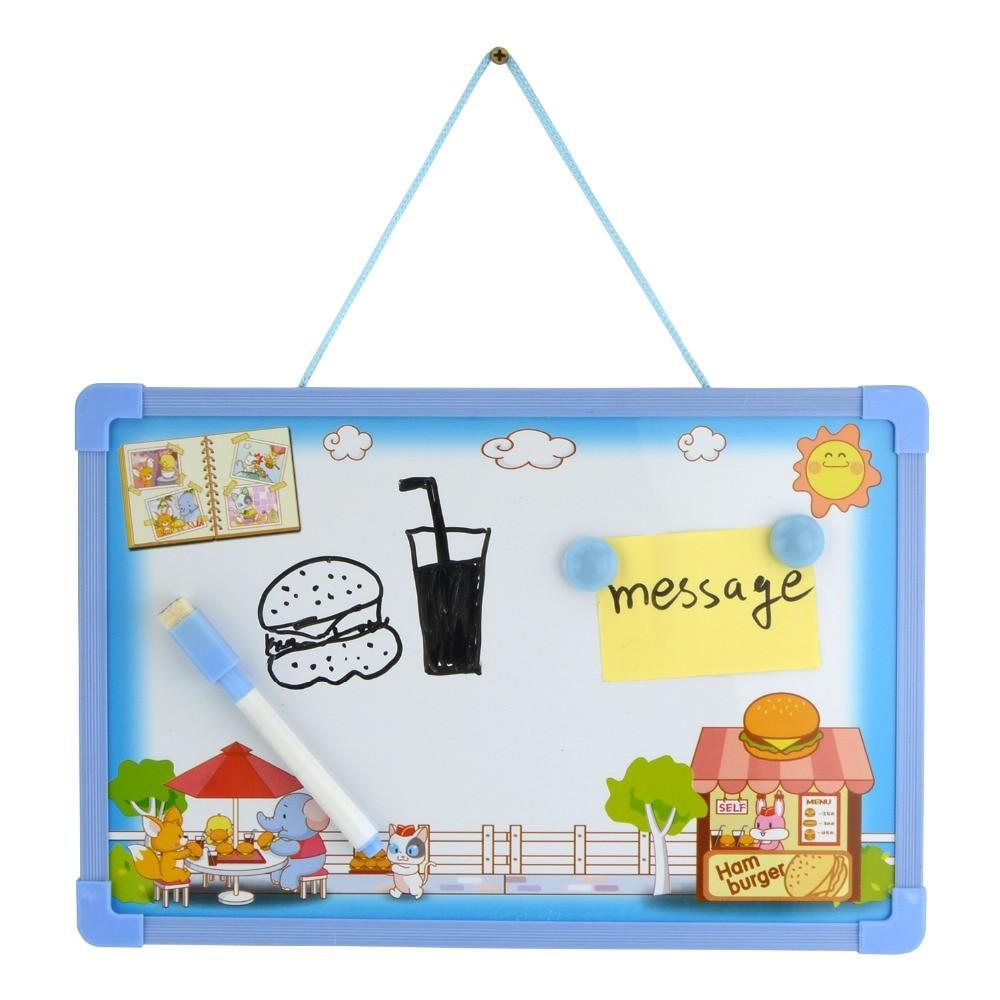 Whiteboard Office Marker Magnetic Board Children's Drawing Board Removable Whiteboard Decals(1Pen+2 Magnets+1Board)