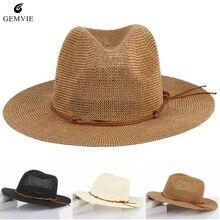 Transpirable hueco grande sombrero hombres sombreros de paja Playa Sol  sombrero ajustable Jazz sombrero de hombre bc39d76b7cb