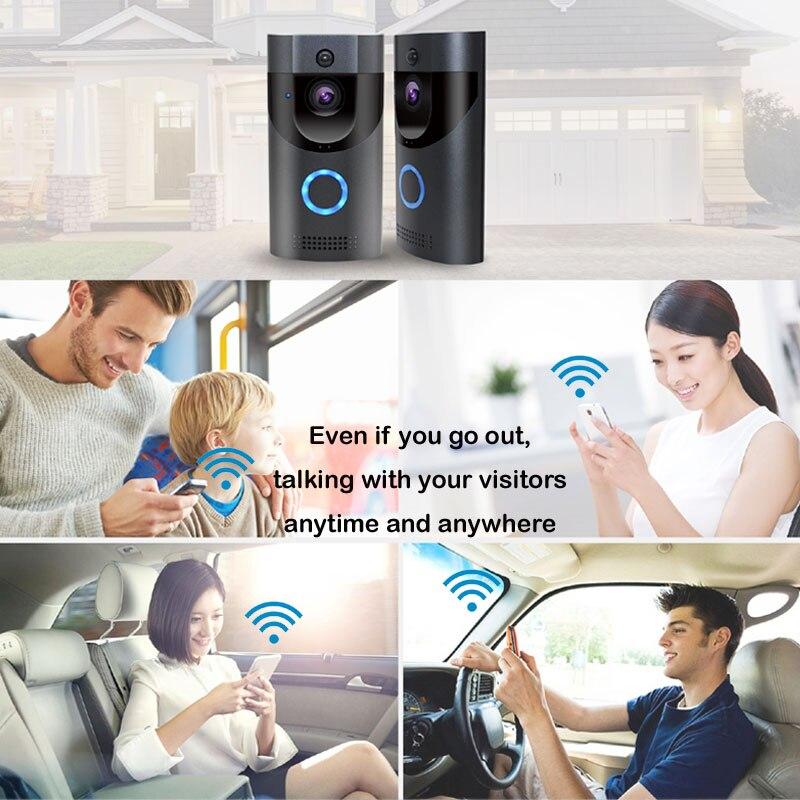 Anytek B30 WIFI timbre B30 IP65 impermeable Smart vídeo puerta timbre de 720 P inalámbrico abeto de alarma de la visión nocturna IR cámara IP - 3