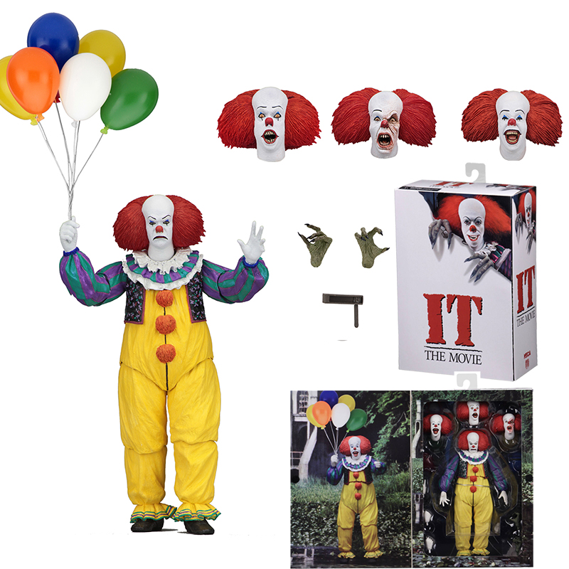NECA IT Pennywise 1990 Stephen King It Clown Action Figure Collection Model Toys For Halloween Decoration Gift (1)