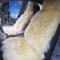 Conjunto Grande de Lujo de piel de Oveja Australiana pura Lana de Felpa Cojín Del Asiento Almohadilla Cubierta Sofá Dormitorio Estera Alfombra En Coche