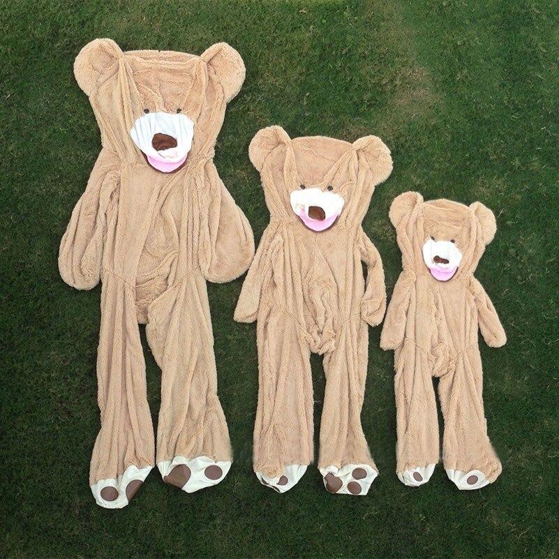130cm 160cm 200cm 260cm giant unstuffed empty American teddy bear skins shell animals kid baby plush soft toys girl Christmas 130 shell