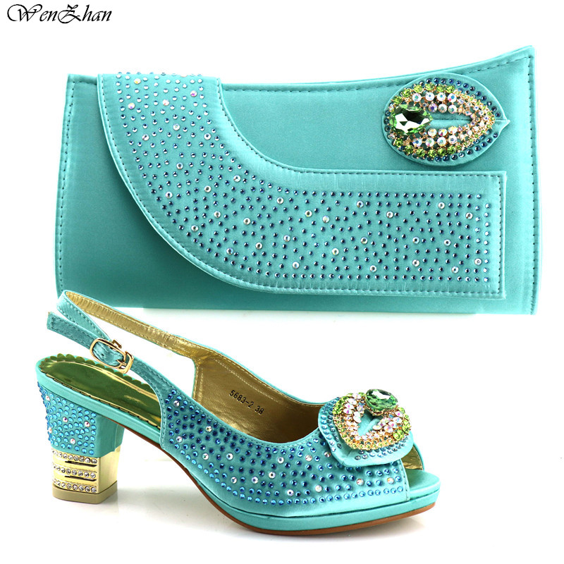 African shoes and bag sets Italian shoe with matching bag With Appliques crystal good selling ladies matching sets C87-24 цена