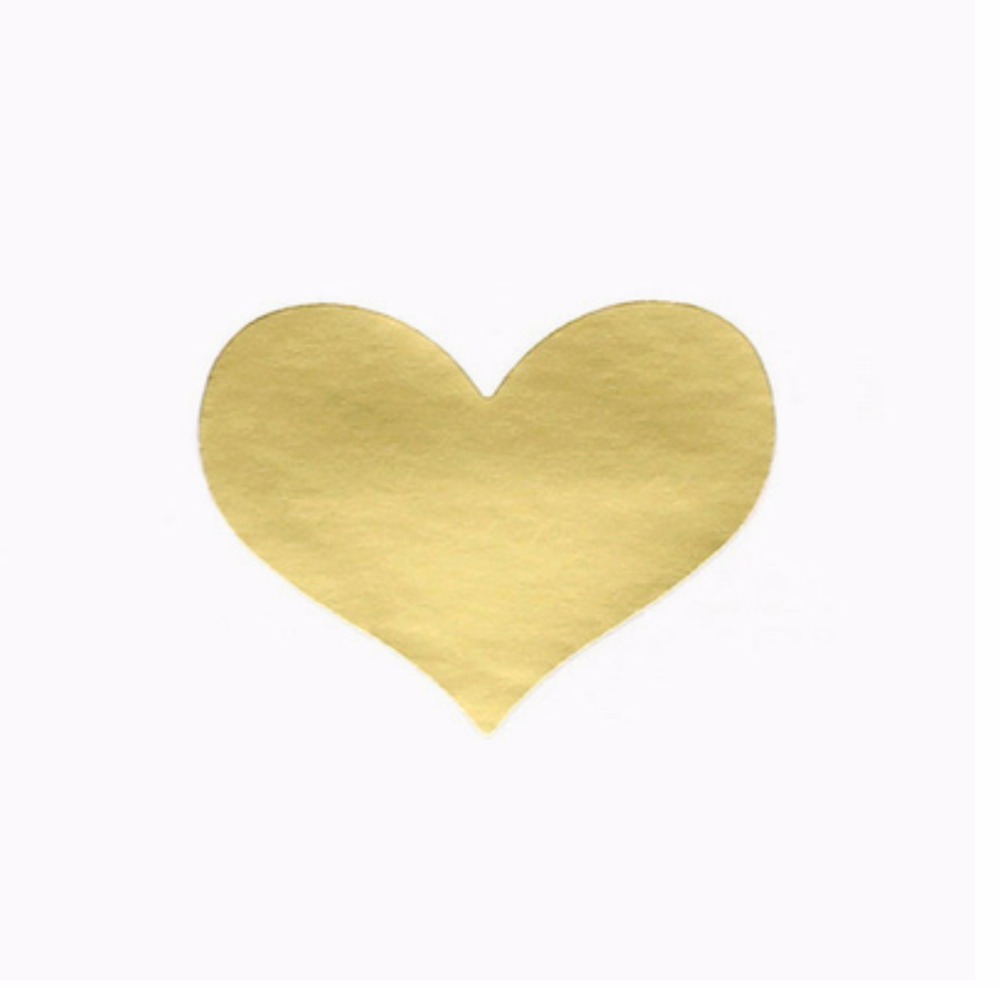 240Pcs 10 Sheets Golden Heart Gold Handmade Cake Candy Packaging Sealing Label Sticker Baking DIY Gift Party Stickers in Stationery Stickers from Office School Supplies