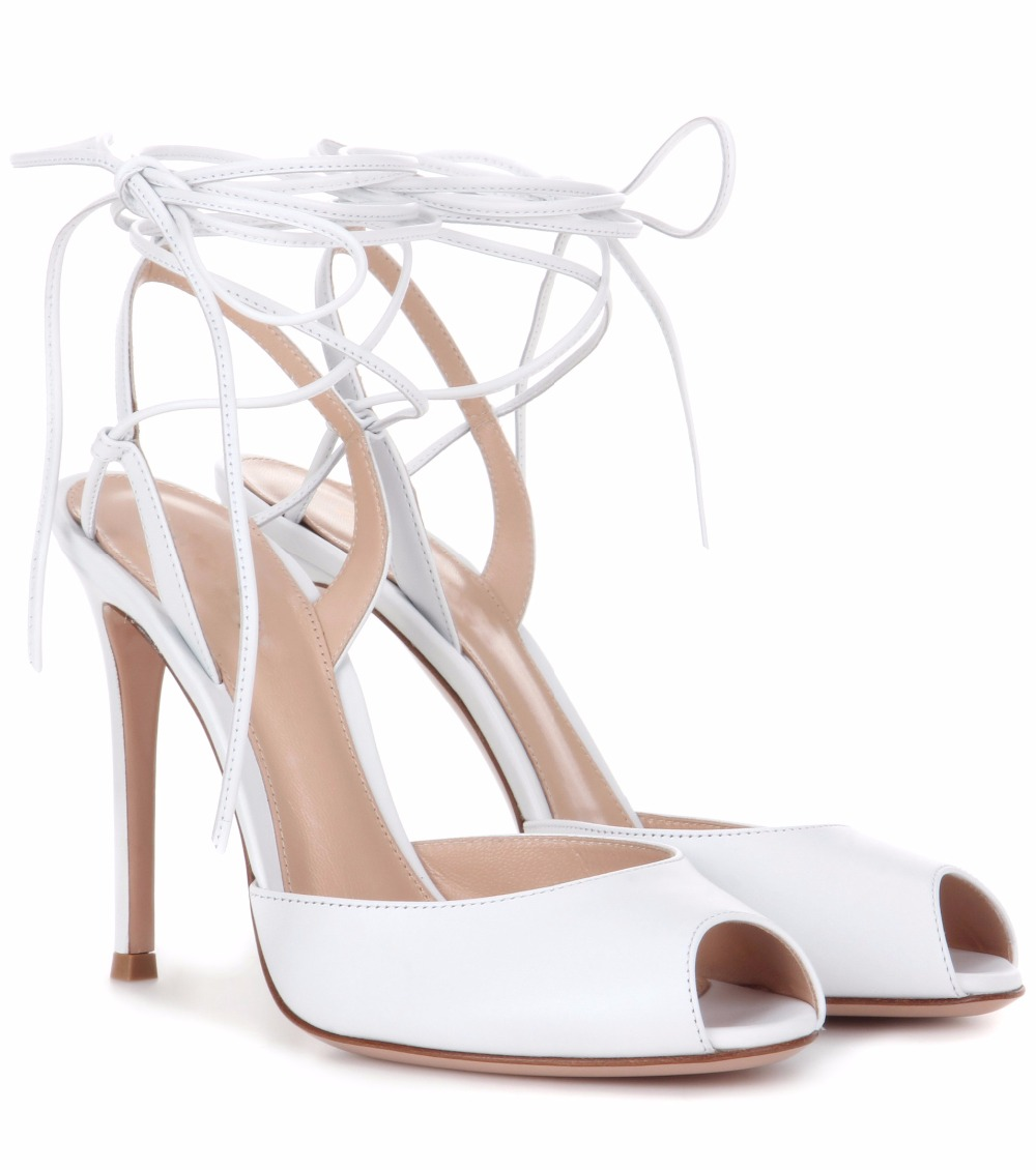 Womens Handcrafted High Heels Lace-up Peep Toe Summer Sexy Party Prom Sandals CKE152 zorssar brand 2017 high quality sexy summer womens sandals peep toe high heels ladies wedding party shoes plus size 34 43