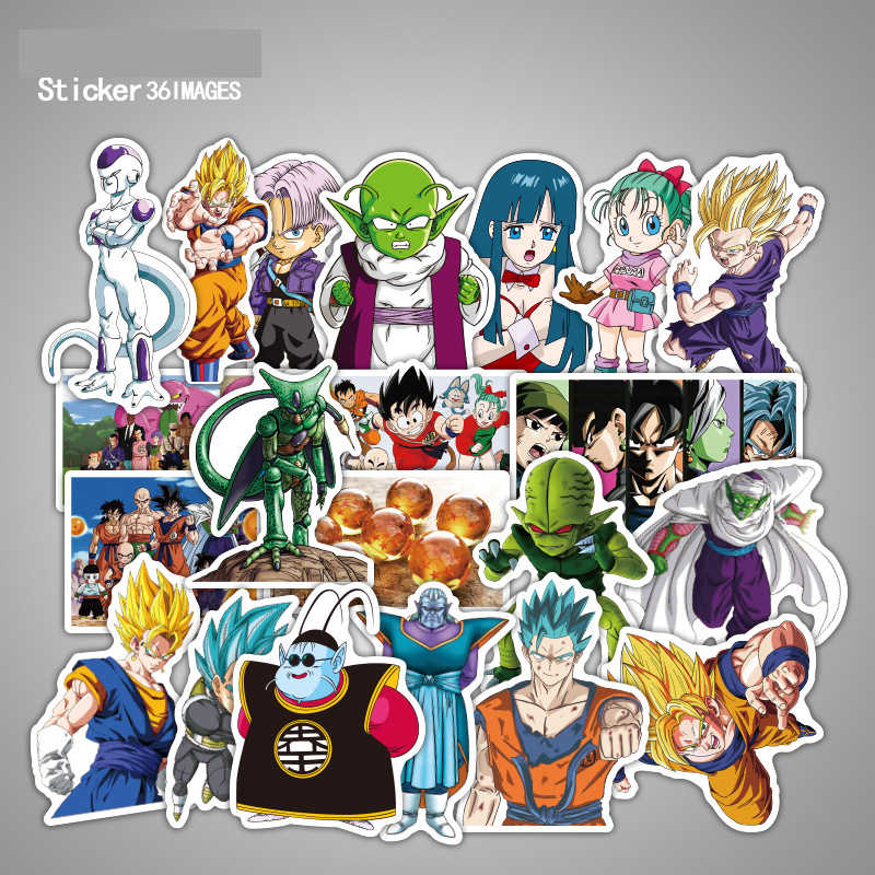 Cartoon Marvel Stickers Laptop Skateboard Anime Dragon Ball Sticker Luggage Graffiti Waterproof Stickers Pack Classic Toys