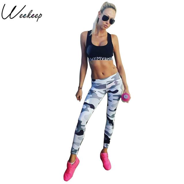 Weekeep Fitness Sporting Leggings Women Workout Leggings Summer Sporter Skinny Camouflage Women Leggings Adventure Time Bottom