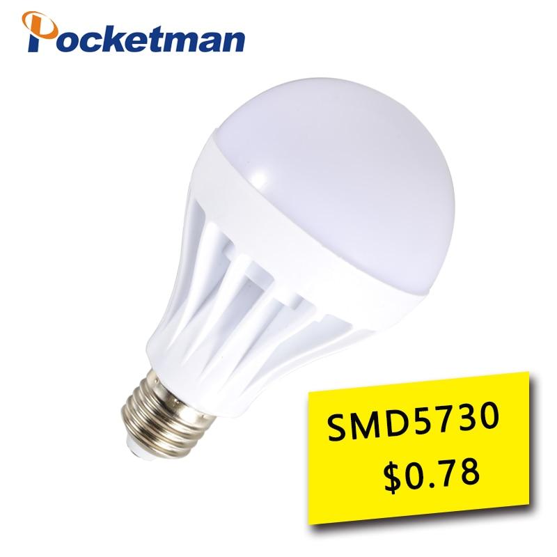 High Power E27 Led Bulb 5730 SMD 3W 5W 7W 9W 10W 12W 15W 20W 30W LED Lamp bulb 220V Light Bulb For Home Led Spotlight Lamps