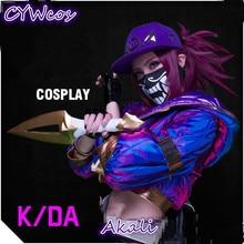 Hot!!LOL K/da The Rogue Assassin Akali KDA Cosplay Costume Female Sexy Outfits Coat цена и фото