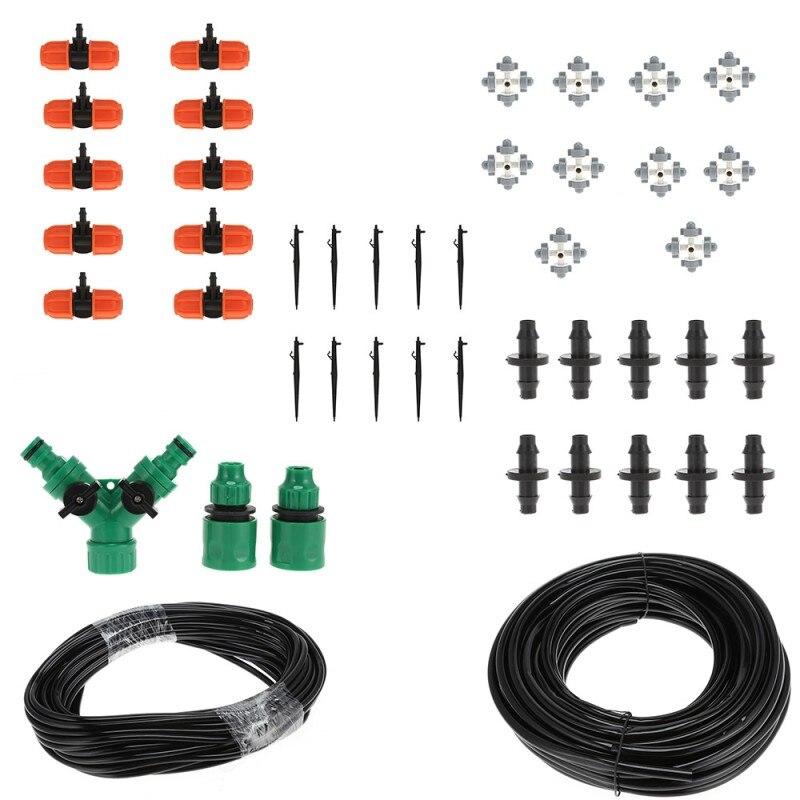 Système d'irrigation goutte à goutte par pulvérisation Kits d'arrosage bricolage Kits d'arrosage automatique Micro goutte à goutte avec refroidissement par pulvérisation réglable