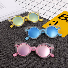 Kids Sunglasses Children Boys Girls Cool Cute Mirror Baby Frame 100% UV400 Anti-UV Fashion Eyewear Sun Glasses Oculos De Sol