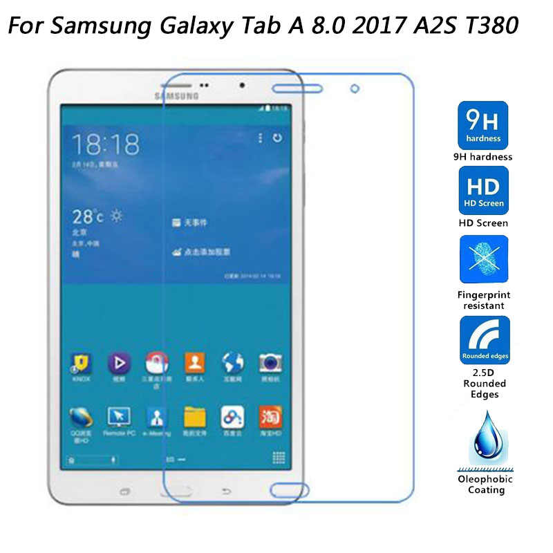 For Samsung Galaxy Tab A 8.0 2017 T380 T385 Tab A2 S A2S 8.0 inch Tempered Glass Screen Protector Film