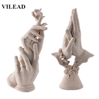 VILEAD Hand in Hand Figurines Wedding Decoration Anniversary Souvenirs Statuettes Creative Gifts for Wife Girlfriend Home Decor