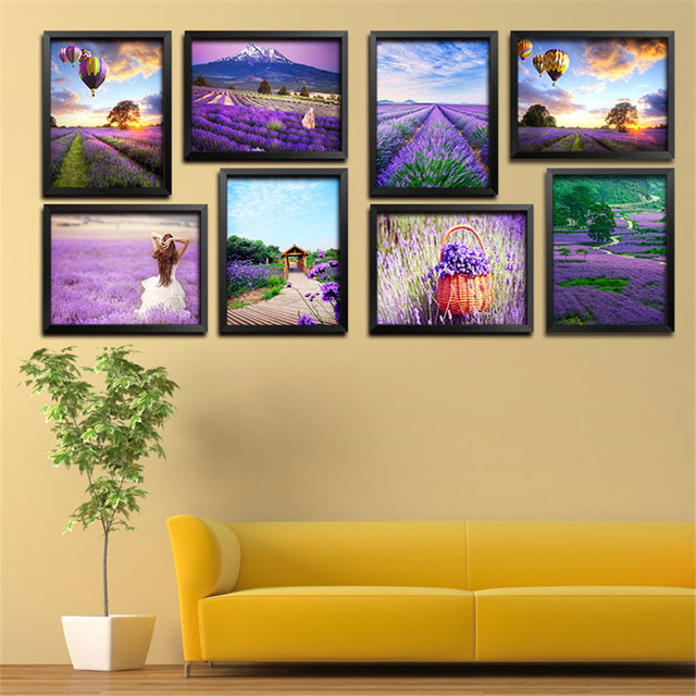 Hot Sell Modern Canvas Painting Purple Lavender Flowers Home ...