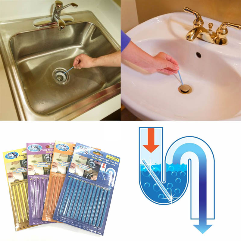 12 Pieces/set Sticks Sewage Disinfection To Deodorant In The Kitchen Toilet  Bath Cleaner Sewer Ramrod Hair Clear In Ballons U0026 Accessories From Home U0026  Garden ...