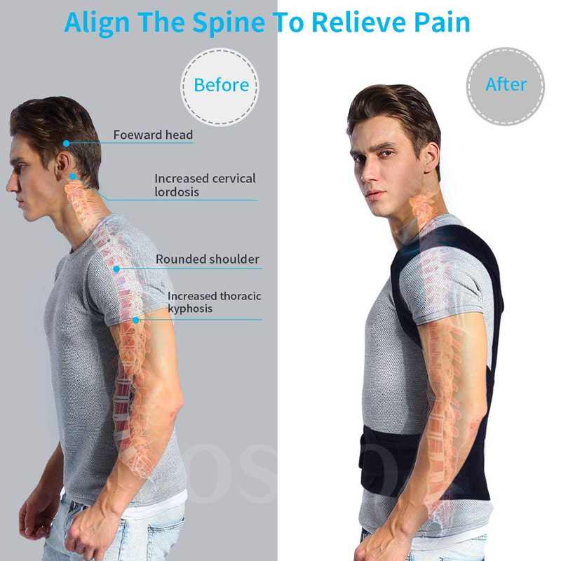 Posture Corrector for Men and Women Back Posture Brace Clavicle Support Stop Slouching and Hunching Adjustable Back Trainer 1
